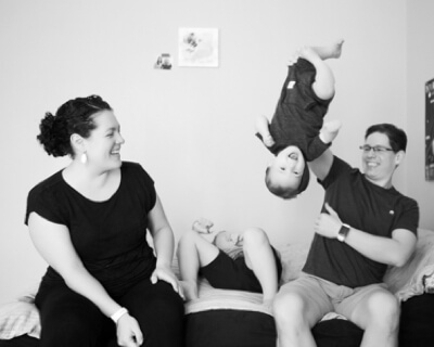 funny family photo session